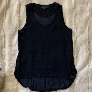 Armani exchange navy sleeveless top